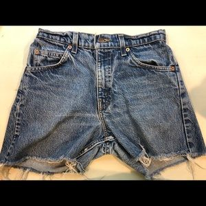 levi denim 550 shorts